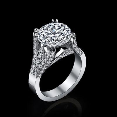 GIA, '1.36 carat Diamond, EGL USA certified center diamond 13.26 total weight, Triangular Brilliant', 2018
