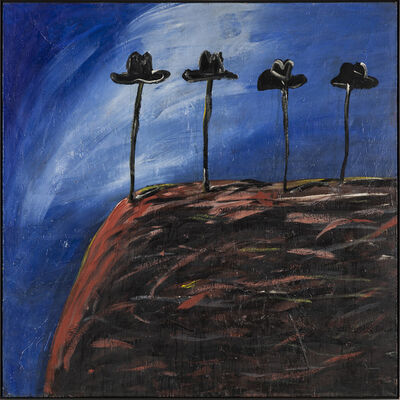 Walter Dahn, 'Vier für ein Ave Maria', 1982