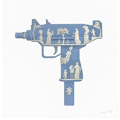 Magnus Gjoen, 'POMPEII BLUE UZI', 2014