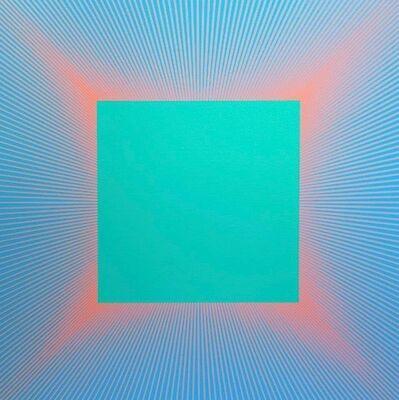 Richard Anuszkiewicz, 'Red Edged Green Square', 1977-2017