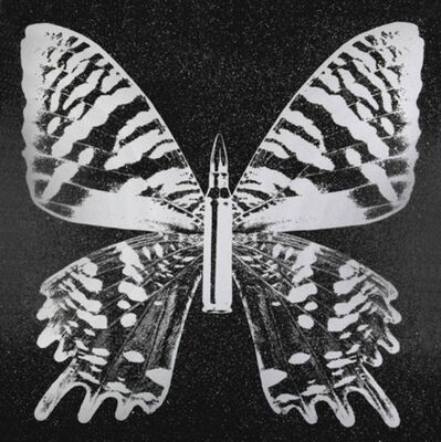 Rubem Robierb, 'Pearl Butterfly on Black'