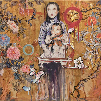 Hung Liu, '(Untitled) Mother and Child', 2016