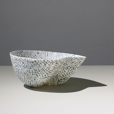 Mieke Everaet, 'POINTED PORCELAIN BOWL, BLACK & WHITE ', 2019