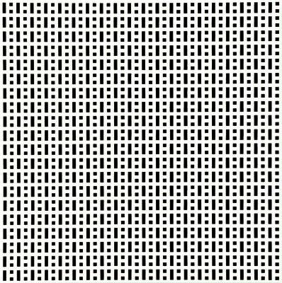 François Morellet, 'Tous les 2 tous les 4', 1974