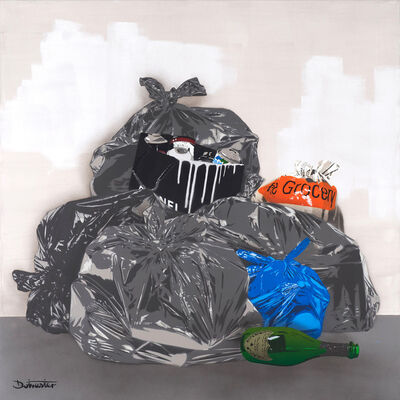 The Dotmaster, '1m squared Trash - Paris', 2019