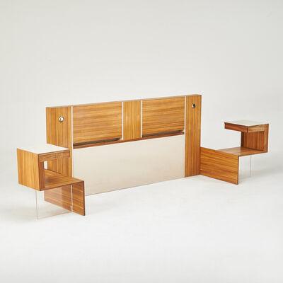 Vladimir Kagan, 'King-sized headboard with integrated nightstands', 1970s