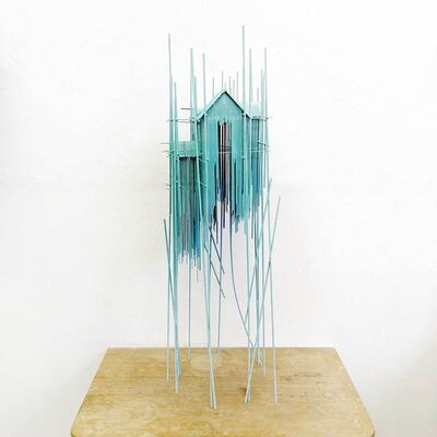 David Moreno (b.1978), 'Floating city Tower serie blue 01', 2019