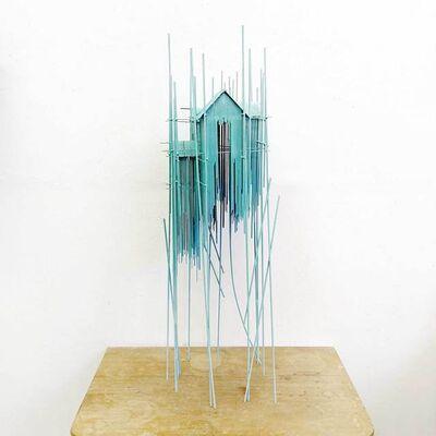 David Moreno, 'Floating city Tower serie blue 01', 2019