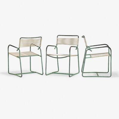 Walter Lamb, 'Set of three armchairs, USA', 1950