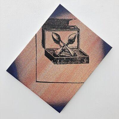 Sigmar Polke, 'Dr Pabscht het z'Schpiez s'Schpäckbschteck z'schpät bschteut', 1991