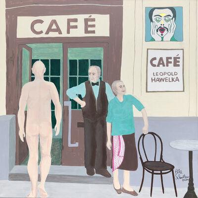 Elke Schmoelzer, 'Cafe Hawelka', 2020