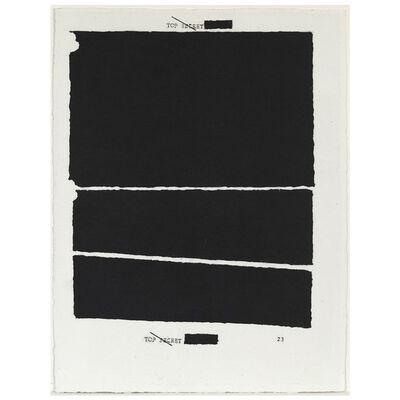 Jenny Holzer, 'Redacted (Top Secret)', 2012