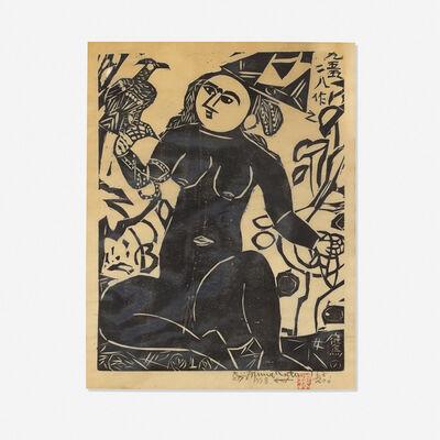 Shiko Munakata, 'Hawk Woman', 1955/1958