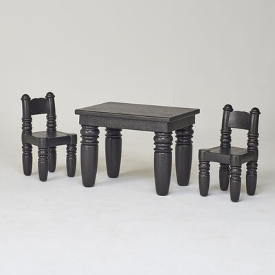Marcel Wanders, 'Styrofoam child's table and chairs'
