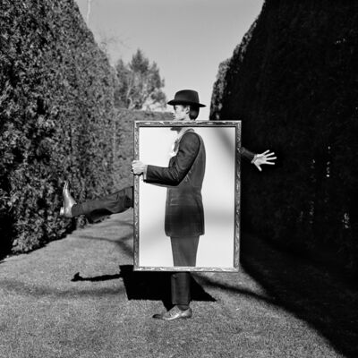 Rodney Smith, 'Nathan Holding Portrait of Himself, Amenia, New York', 2011