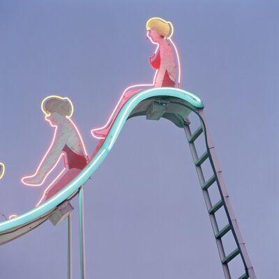 Jeff Brouws, 'Neon Swimmers, Las Vegas, Nevada', 1995