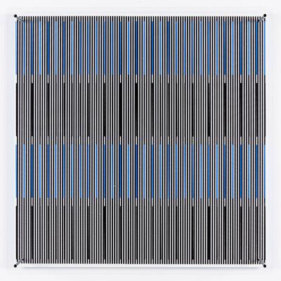 Jesús Rafael Soto, 'Tes azules y negras (Série SINTESIS)', 1979