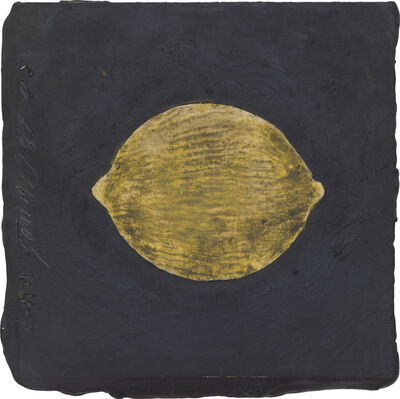 Donald Sultan, 'Lemon, 19 January 1989', 1989