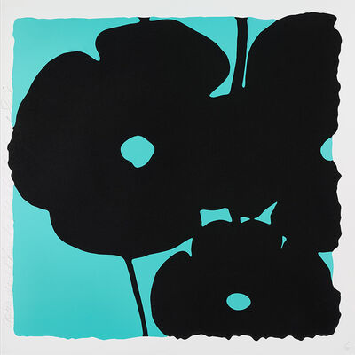 Donald Sultan, 'Reversal Poppies Aqua and Black', 2