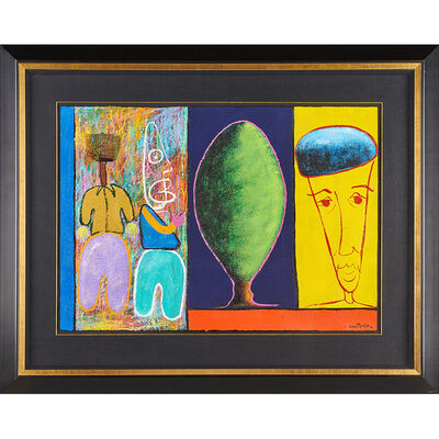 George Velaphi Mzimba, 'Two untitled oil and mixed media works on paper', 1996