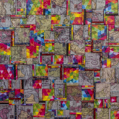 """Silvio Fischbein, 'Sin Título, de la serie """"todos, IGUAL"""" 80 x 80 x 2 cm.', 2017"""