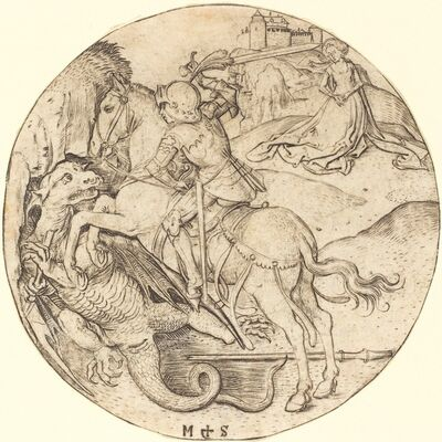 Martin Schongauer, 'Saint George and the Dragon', ca. 1470/1475