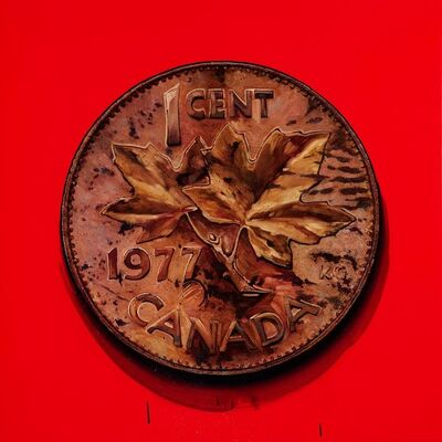 James Lahey, '1 Cent Portrait, 1977 (Made in Canada 3 – A Memoir,) ', 2019-2020