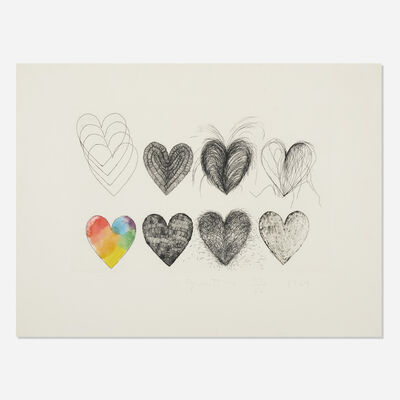 Jim Dine, 'Hearts and a Watercolor', 1969