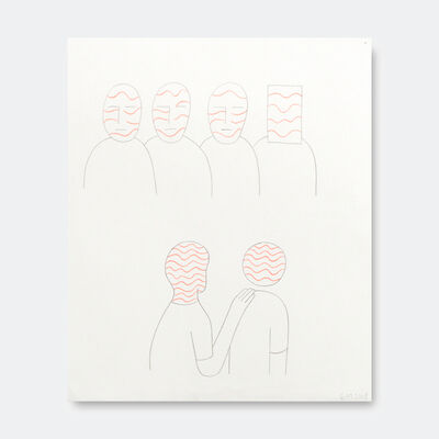 Geoff McFetridge, 'Meta Friends Red Lines', 2018