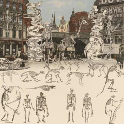 Peter Blake, 'London- Ludgate Circus - Day Of The Skeletons, (from The London Suite)', 2012