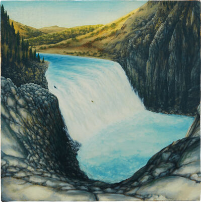 Dan Attoe, 'Waterfall with Boat', 2014
