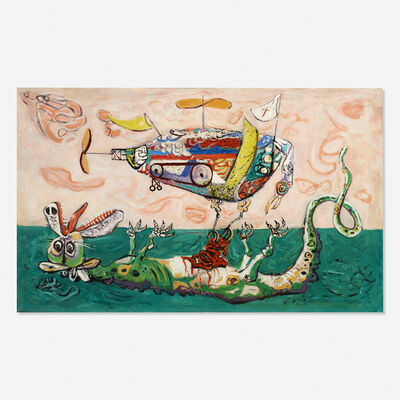 Arnold Blanch, 'Boat and Dragon'