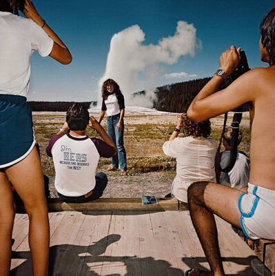 Roger Minick, 'Photographing Old Faithful Geyser, Yellowstone National Park, Wyoming', 1980