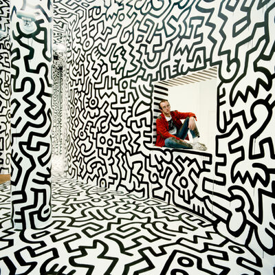 Tseng Kwong Chi, 'Haring Pop Shop Window New York ', 1986
