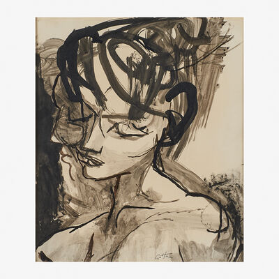 Renato Guttuso, 'Untitled (Head of a Young Woman)'