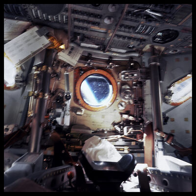 Michael Light, '005 Cabin of Command Module Gumdrop, Earth Beyond; Attributed to David Scott, Apollo 9, March 3-13, 1969', 1999