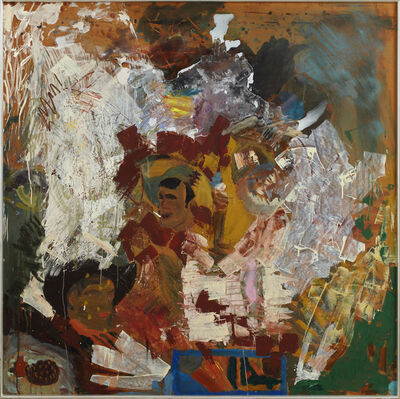 Per Kirkeby, 'Three men seeking ruins', 1975-1977