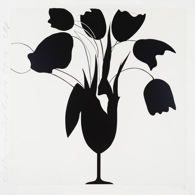 Donald Sultan, 'Black Tulips and Vase, Feb 26, 2014'