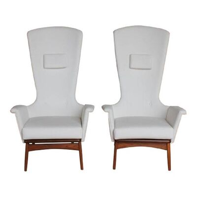 Adrian Pearsall, '1960'S VINTAGE ADRIAN PEARSALL SCULPTURAL HIGH-BACK LOUNGE CHAIRS- A PAIR', 1960's