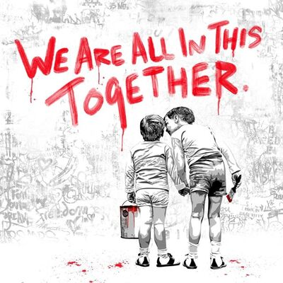 Mr. Brainwash, 'We are all in this together (Red Edition)', 2020