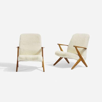 Bengt Ruda, 'lounge chairs, pair', c. 1955