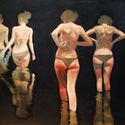 "Michael Carson, '""Moon Swimming""', 2016"