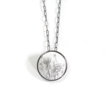 Nicolette Absil, 'Dried Flowers Small Round Pendant'