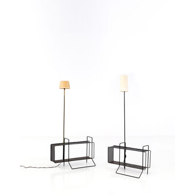 Mathieu Matégot, 'Floor lamp shelf', circa 1950