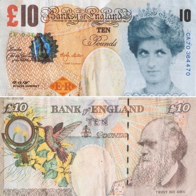 Banksy, 'Di-Faced Tenner', 2004