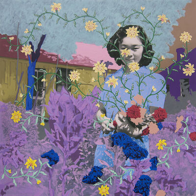 Daisy Patton, 'Untitled (Gardener with Bouquet)', 2018