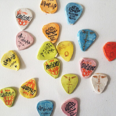 Rose Eken, '4 X Guitar Picks ', 2012