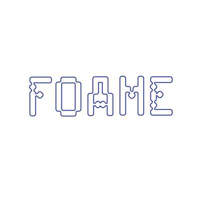 "Jesse Moretti, '""FOAME"" Type Specimen', 2016"