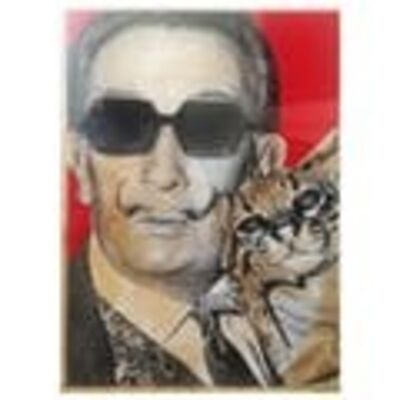 "Mr. Brainwash, 'MR BRAINWASH- ""COOL DALI WITH THE CAT (RED)"" HAND SIGNED ', 2008"