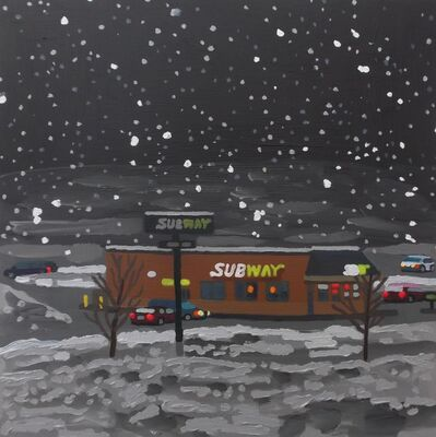 Jack Bishop, 'Subway in a Nor'easter', 2019